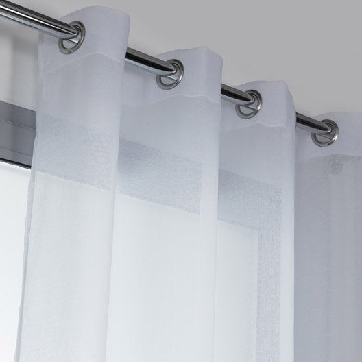 voilage tamisant grande hauteur cloud blanc x cm leroy merlin. Black Bedroom Furniture Sets. Home Design Ideas