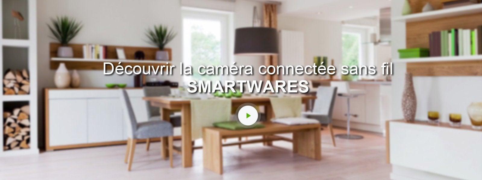 cam ra connect e sans fil ext rieure smartwares c924ip sw leroy merlin. Black Bedroom Furniture Sets. Home Design Ideas