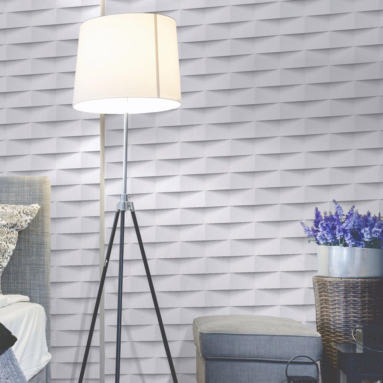 Papier peint intissé 3d origami blanc   Papier peint intissé