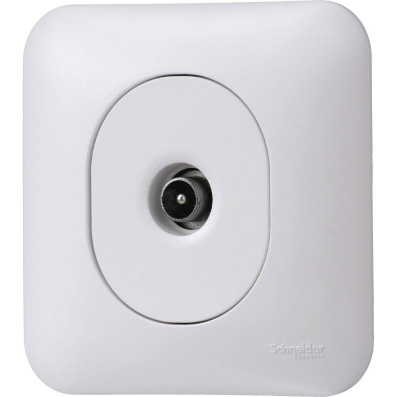 Prise Tv Ovalis Blanc Schneider Electric