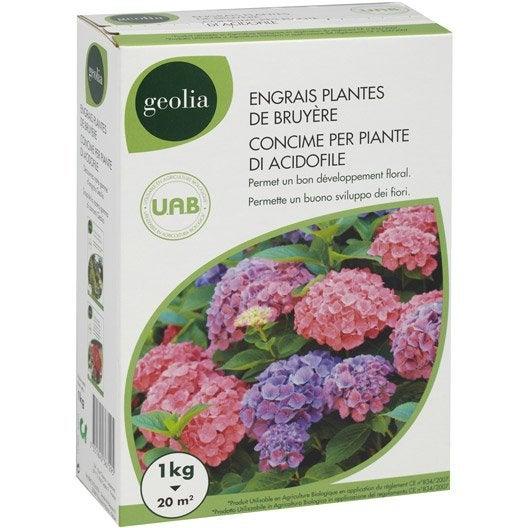 Engrais naturel hortensias GEOLIA 1kg 20 m²