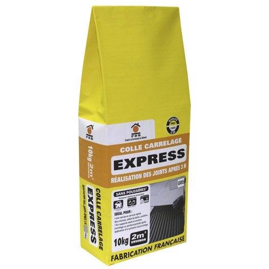 Mortier colle express pour carrelage mur et sol 10 kg for Mortier colle pour carrelage piscine