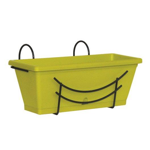 jardini re plastique jardifer x x cm vert. Black Bedroom Furniture Sets. Home Design Ideas