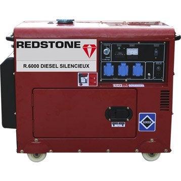 Groupe électrogène diesel de chantier REDSTONE R6000, 4500 W