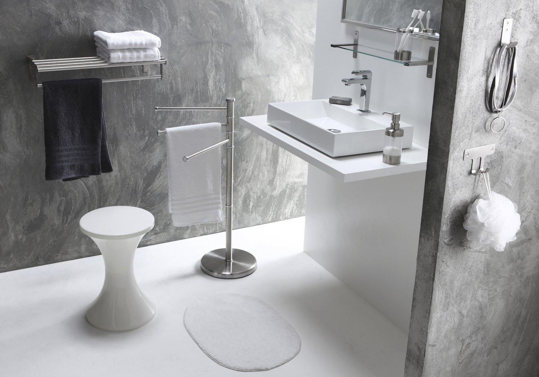 Une salle de bains épurée grise et blanche | Leroy Merlin