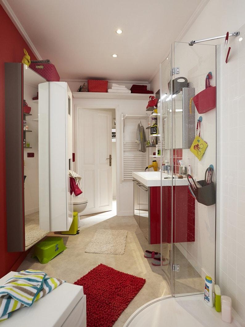 Salle de bains rouge et blanche leroy merlin - Salle de bains rouge ...