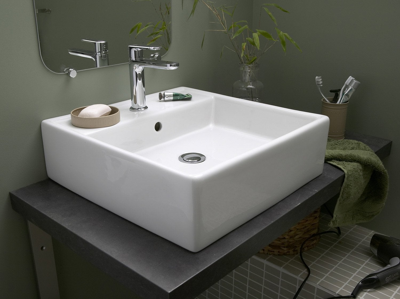 Comment installer une vasque poser leroy merlin for Pose d un lavabo