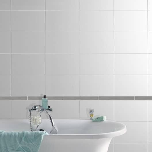 listel onde gris l 4 5 x cm leroy merlin. Black Bedroom Furniture Sets. Home Design Ideas