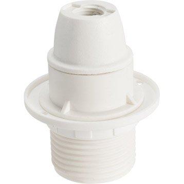 Douille électrique à vis E14 abs, blanc