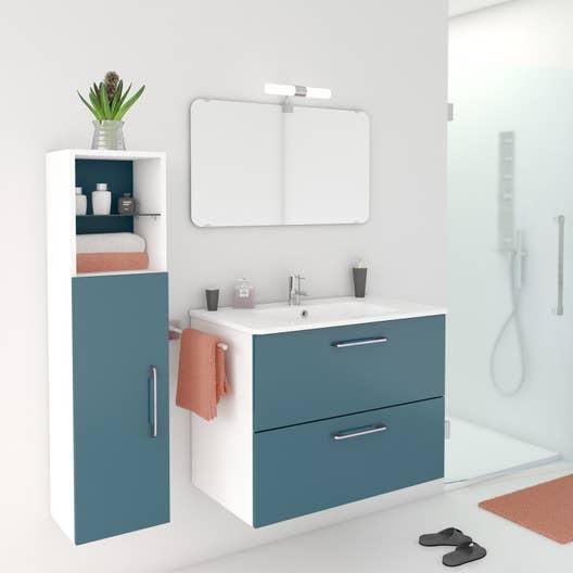 Meuble de salle de bains de 80 99 bleu happy leroy for Bains manpreet s md