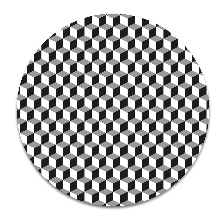 Dessous de plat en céramique Hexago noir/blanc