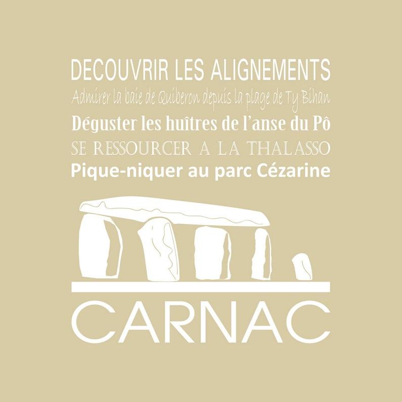 Toile Imprimée Carnac Beige Artis L30 X H30 Cm
