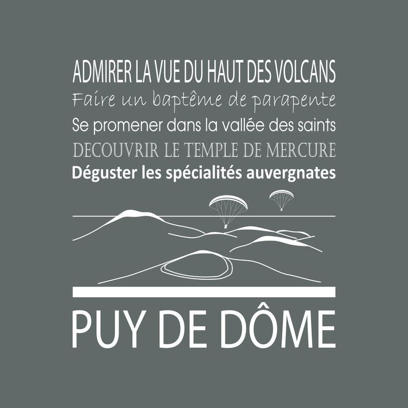 Toile Imprimée Puy Dome Gris Artis L30 X H30 Cm