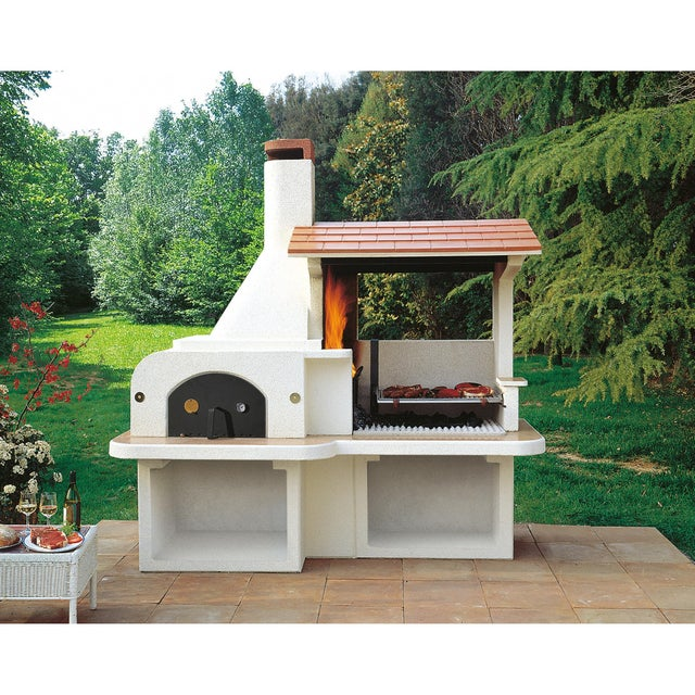 Barbecue Fixe Palazzetti Antille Beige Leroy Merlin