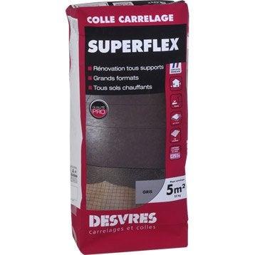 Mortier colle Superflexible pour carrelage mur et sol, 25 kg, blanc