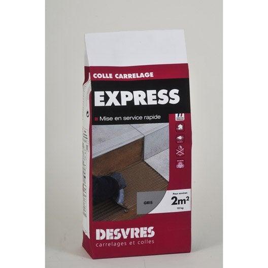 Mortier colle express pour carrelage mur et sol 10 kg for Mortier colle carrelage