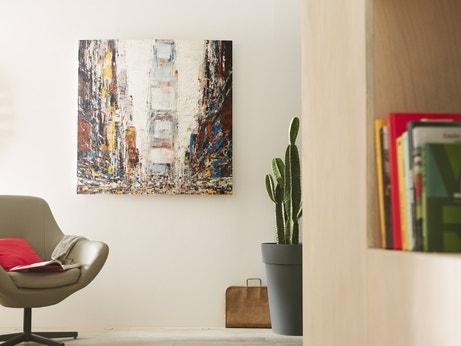 Un radiateur électrique avec le visuel New York pour chauffer et décorer votre salon
