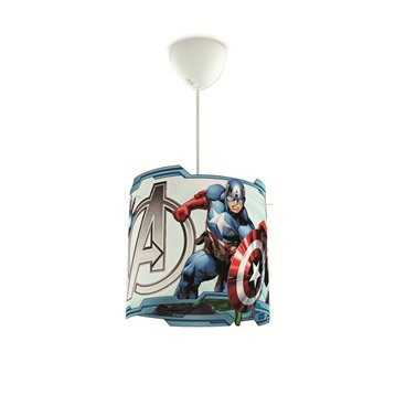 Suspension, e27 enfant Avengers synthétique multicolore 1 x 60 W PHILIPS