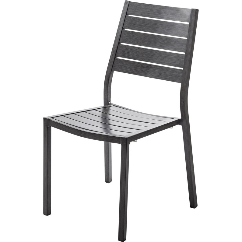 Chaise de jardin en aluminium Antibes ice argent   Leroy Merlin e26a81aa394a