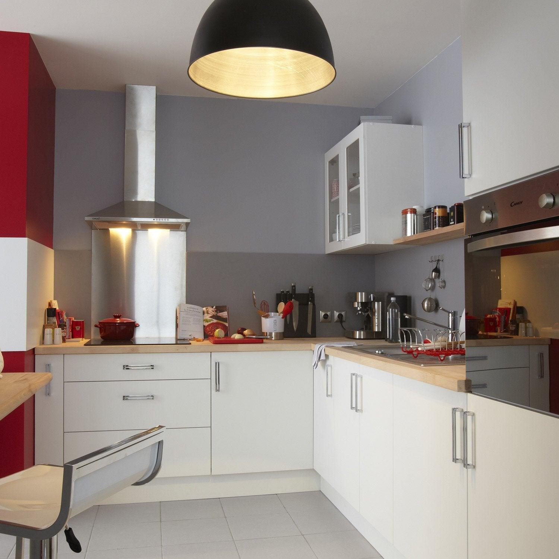 Meuble de cuisine blanc delinia d lice leroy merlin - Leroy merlin lens ...