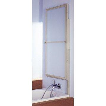 Pare-baignoire 1 volet verre de sécurité 3 mm transparent, Romane2