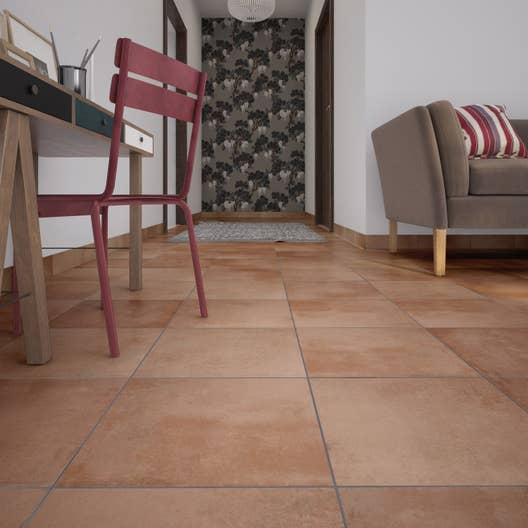 carrelage sol et mur rouge effet terre cuite salernes. Black Bedroom Furniture Sets. Home Design Ideas