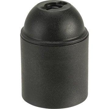 Douille électrique à vis E27 abs, noir