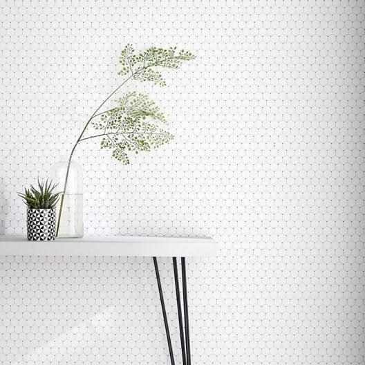 Tendance scandinave noir et blanc au meilleur prix leroy merlin - Papier peint intisse blanc ...