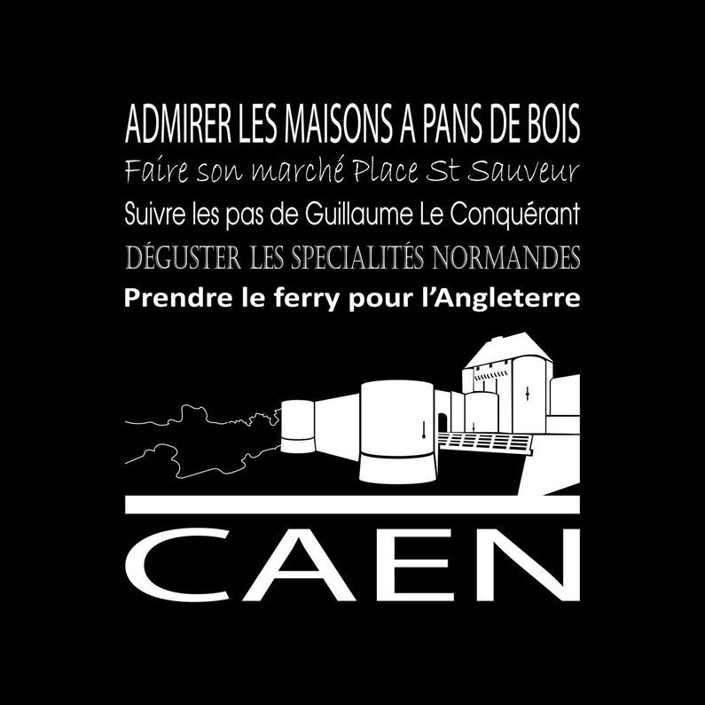 Toile Imprimée Caen Noir Artis L30 X H30 Cm