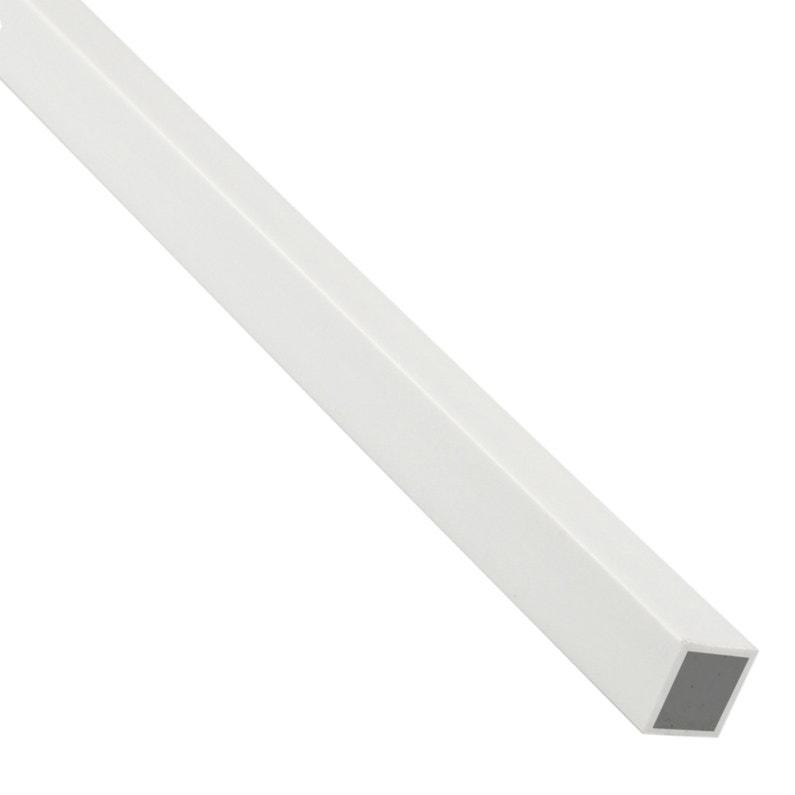 Tube Carré Pvc Mat Blanc L1 M X L16 Cm X H16 Cm