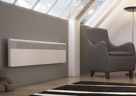 Un radiateur électrique sobre et blanc