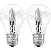 Lot de 2 ampoules standards halogènes 77W = 1320Lm (équiv. 100W) E27 2800K OSRAM