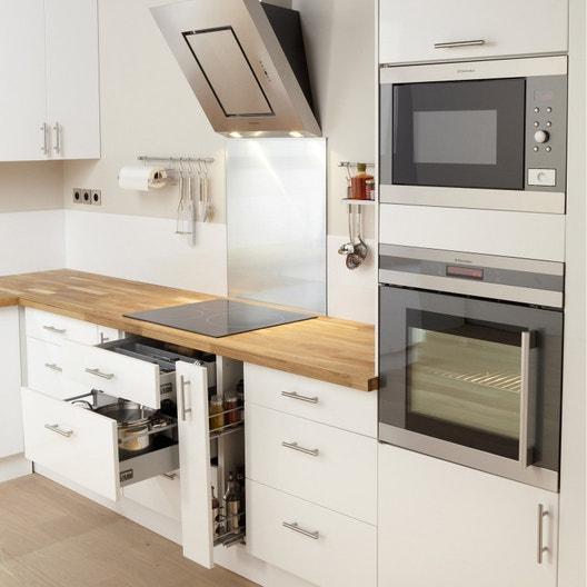 meuble de cuisine blanc delinia rio leroy merlin. Black Bedroom Furniture Sets. Home Design Ideas