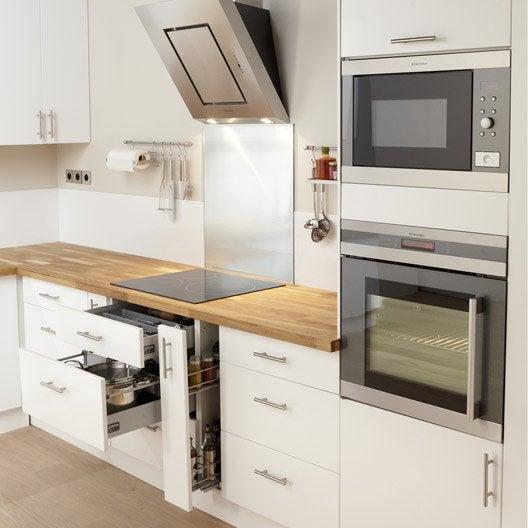 meuble de cuisine blanc delinia rio | leroy merlin