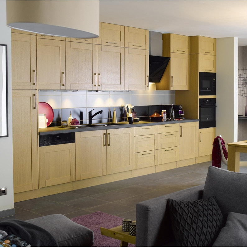 meuble cuisine chene chapeau de gendarme. Black Bedroom Furniture Sets. Home Design Ideas