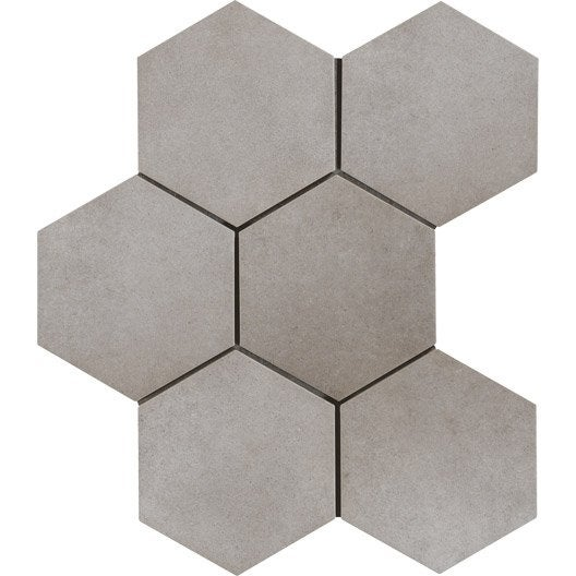 carrelage sol et mur gris ciment effet b ton time x cm leroy merlin. Black Bedroom Furniture Sets. Home Design Ideas