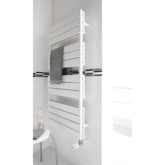 s che serviettes eau chaude acier deltacalor fly double blanc 1250 w leroy merlin. Black Bedroom Furniture Sets. Home Design Ideas