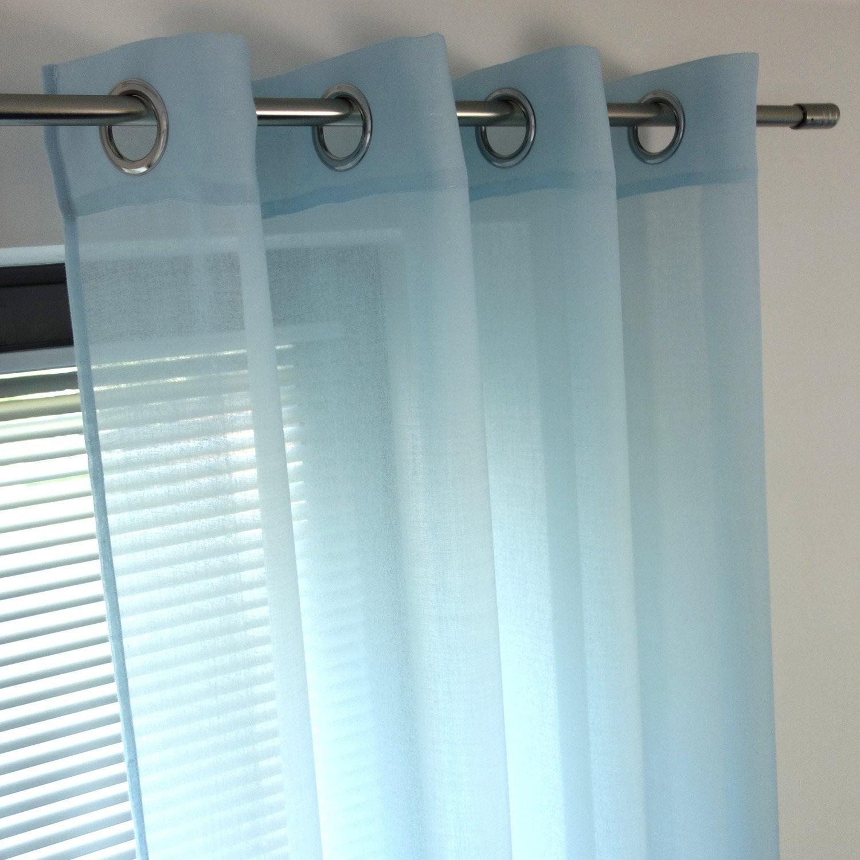 voilage tamisant niagara bleu glacier x cm leroy merlin. Black Bedroom Furniture Sets. Home Design Ideas