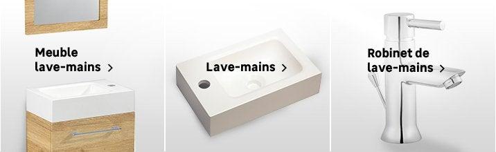 Lave Main Meuble Et Seche Mains Wc Abattant Et Lave Mains Au Meilleur Prix Leroy Merlin