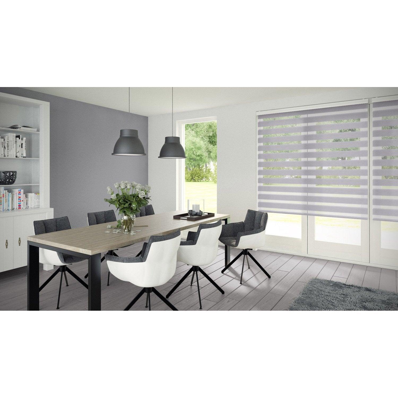 store enrouleur jour nuit authentic gris clair 52 55 x 160 cm leroy merlin. Black Bedroom Furniture Sets. Home Design Ideas