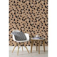 papier peint intiss origami noir leroy merlin. Black Bedroom Furniture Sets. Home Design Ideas