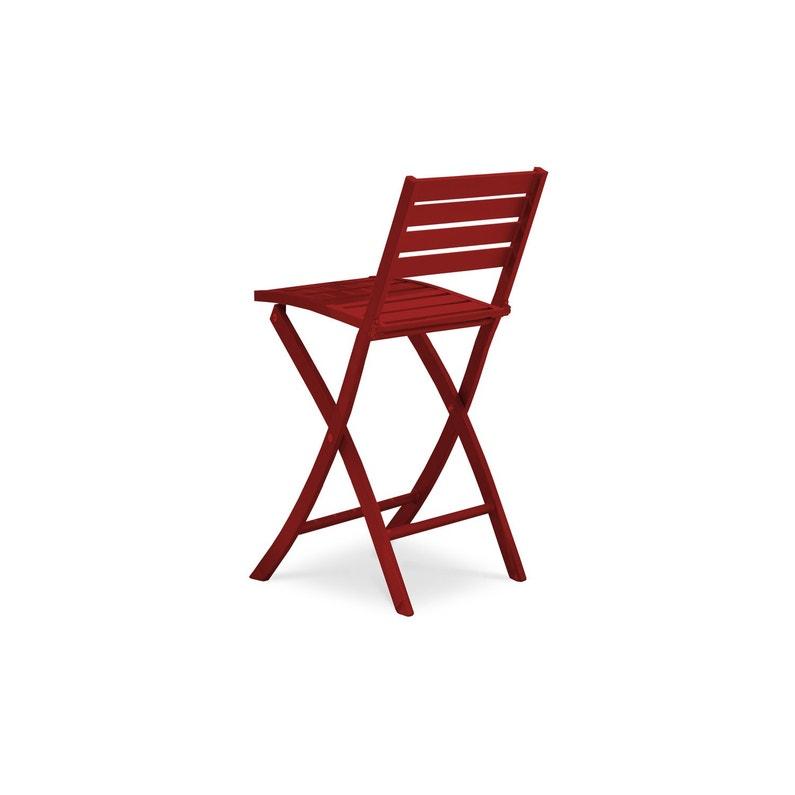 Chaise Haute En Aluminium Marius Rouge