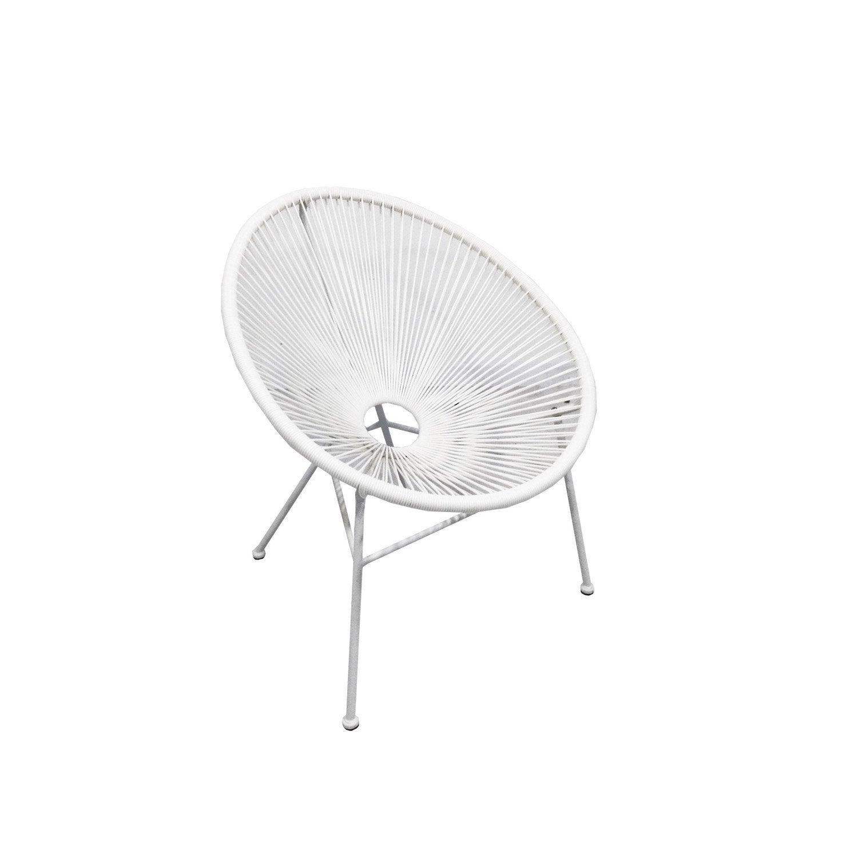 fauteuil en acier acapulco blanc with fauteuil acapulco vert d eau. Black Bedroom Furniture Sets. Home Design Ideas