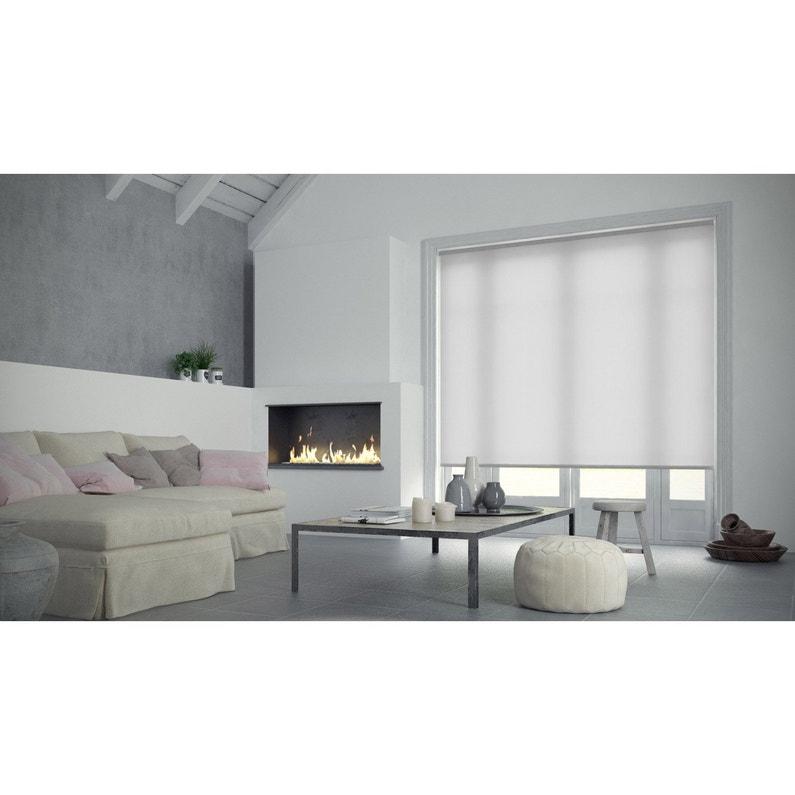 Store Enrouleur Tamisant INSPIRE Blancblanc N X Cm - Carrelage salle de bain et tapis 200x250