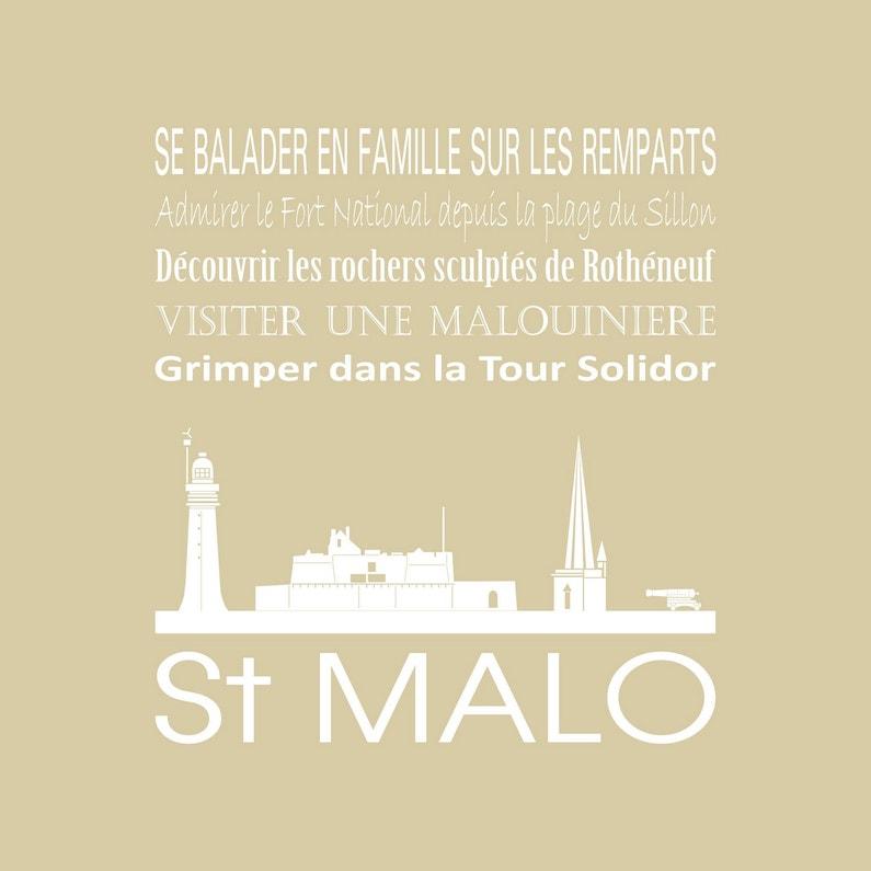 Toile Imprimée Saint Malo Beige Artis L30 X H30 Cm