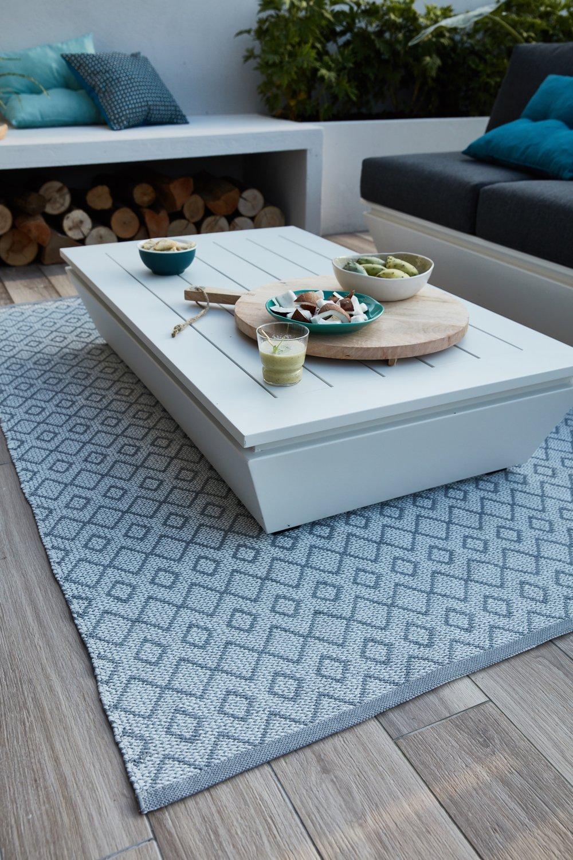 Un tapis d\'extérieur aux lignes géométriques | Leroy Merlin