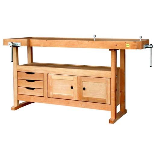 etabli en bois outifrance avec 3 tiroirs et 2 portes leroy merlin. Black Bedroom Furniture Sets. Home Design Ideas