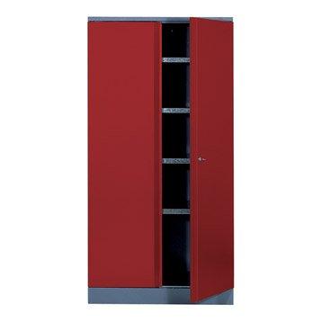Armoire de rangement en métal rouge KUPPER 45.5 cm 2 portes