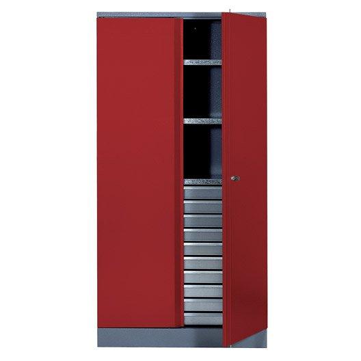 armoire de rangement en m tal rouge kupper 91 cm 1 porte. Black Bedroom Furniture Sets. Home Design Ideas