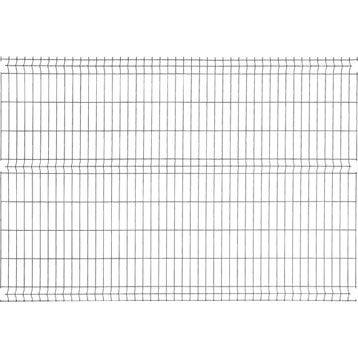 Panneau grillagé NATERIAL noir H.1.73 x L.2.48 m, maille H.200 x l.55 mm